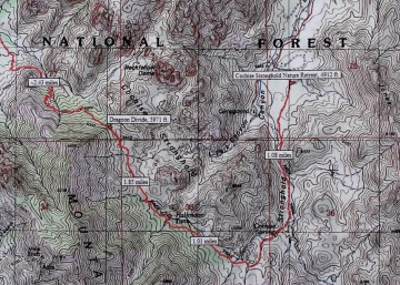Cochise Indian Trail Map